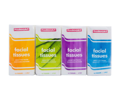 Picture of PHARMASAVE FACIAL TISSUE - POCKET PACK 8S