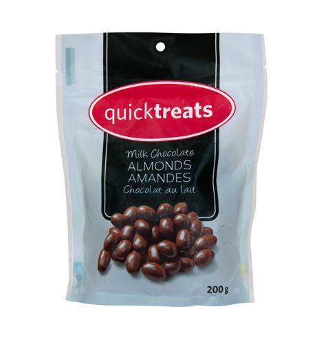 Picture of QUICKTREATS MILK CHOCOLATE ALMONDS 200GR