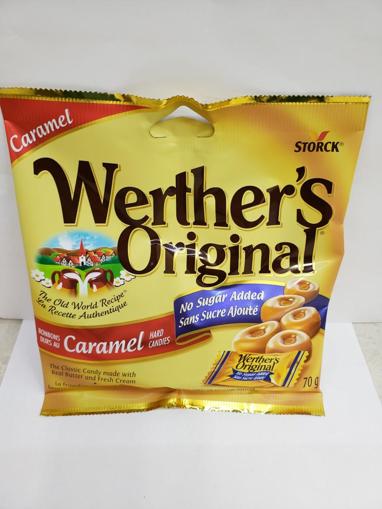 Picture of WERTHERS ORIGINAL - NO SUGAR ADDED 70GR