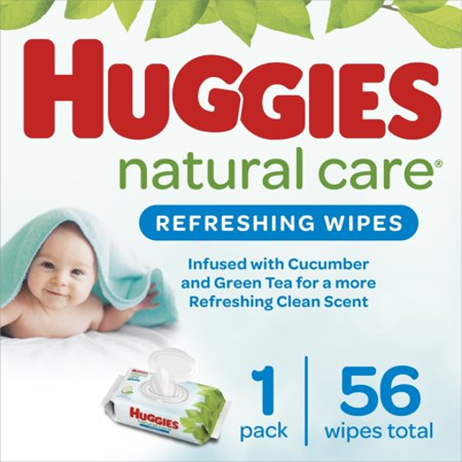 Picture of HUGGIES REFRESHING CLEAN BABY WIPES RFT SOFT PACK 56S