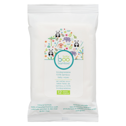 Picture of BOO BAMBOO BABY - BABY WIPES 12S