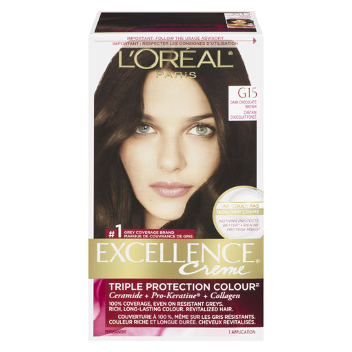 Picture of LOREAL EXCELLENCE PRO-KERATINE HAIR COLOUR - DARK CHOCOLATE BROWN G15