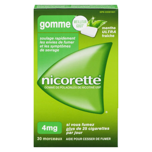 Picture of NICORETTE GUM - ULTRA FRESH MINT 4MG 30S