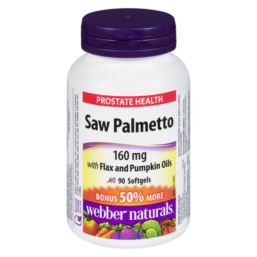 Picture of WEBBER NATURALS SAW PALMETTO CAPSULE 160MG 60+30S