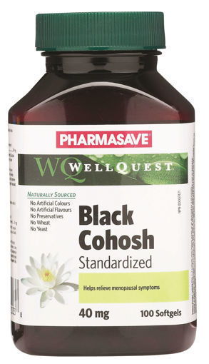 Picture of PHARMASAVE WELLQUEST BLACK COHOSH - SOFTGEL CAPSULE 40MG 100S