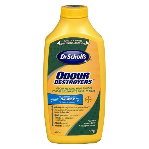 Picture of DR. SCHOLLS ODOUR DESTROYERS ALL DAY DEODORANT POWDER 177GR