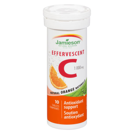 Picture of JAMIESON EFFERVESCENT VITAMIN C 1000MG TABLET 10S