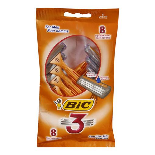 Picture of BIC 3  SHAVER - ORIGINAL TRIPLE BLADE - MENS 8S