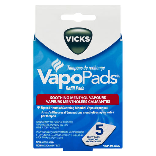 Picture of VICKS WATERLESS VAPOURIZER REFILL PADS VSP19 5S