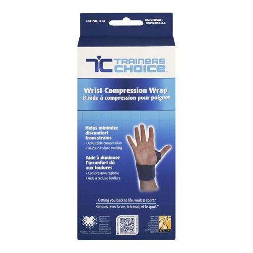 Picture of TRAINERS CHOICE COMPRESSION WRIST SUPPORT - ONE SIZE