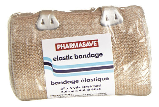 Picture of PHARMASAVE BANDAGE - ELASTIC 3IN X 5YDS