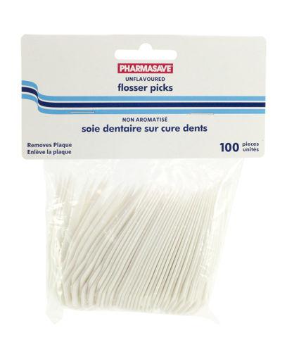 Picture of PHARMASAVE FLOSSER PICKS - REGULAR 100S