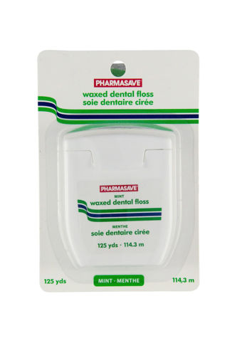 Picture of PHARMASAVE FLOSS - WAXED MINT 125YD