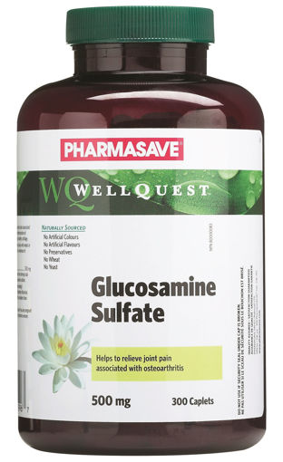 Picture of PHARMASAVE WELLQUEST GLUCOSAMINE SULFATE CAPLET 500MG 300S