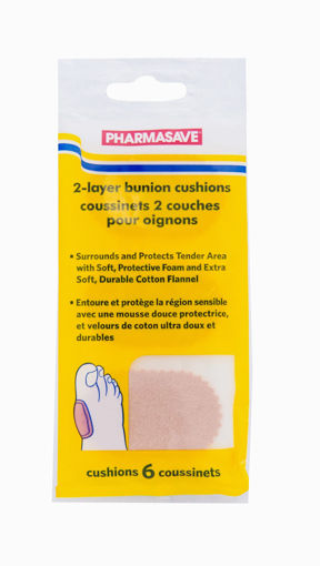 Picture of PHARMASAVE BUNION CUSHIONS 2-LAYER 6S