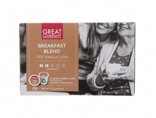 Picture of GREAT COMPANY SINGLE SERVE CUPS - BREAKFAST BLEND 12S