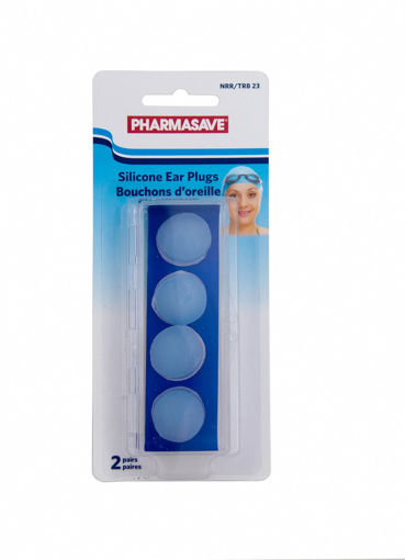 Picture of PHARMASAVE SILICONE EAR PLUGS 2PR