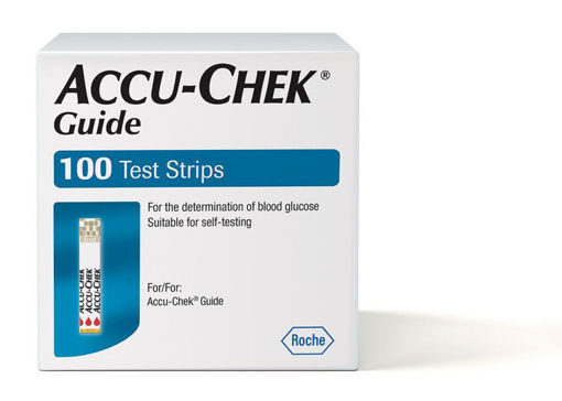 Picture of ACCU CHEK GUIDE TEST STRIPS 100S
