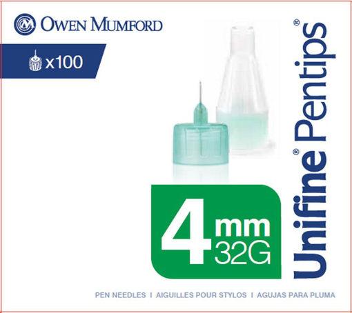 Picture of OWEN MUMFORD UNIFINE PENTIPS - 4MM 32G 100S