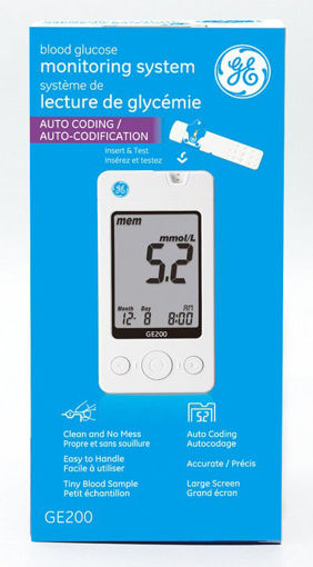 Picture of GE200 BLOOD GLUCOSE MONITOR