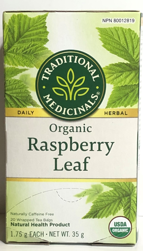 Picture of TRADITIONAL MEDICINALS ORGANIC TEA - RASPBERRY 20S