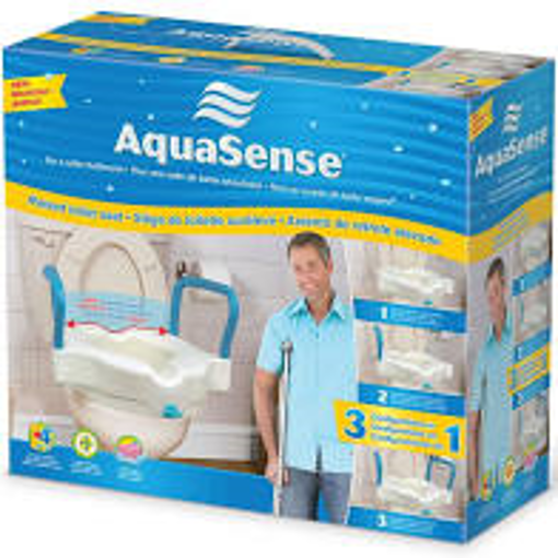 Picture of AQUASENSE RAISED TOILET SEAT 3IN1 - 2IN