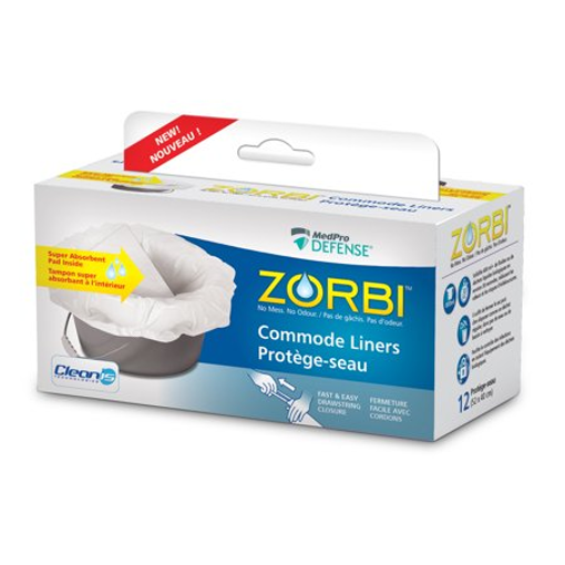 Picture of AMG MEDICAL MEDPRO DEFENSE ZORBI COMMODE LINERS W/CLEANIS TECH 12S