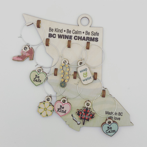 Picture of WINE CHARMS - KIND/CALM/SAFE