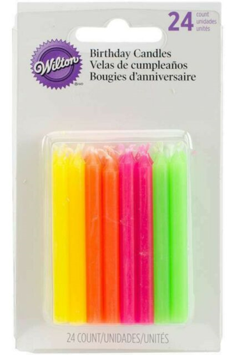 Picture of WILTON BIRTHDAY CANDLE - HOT COLORS 24S