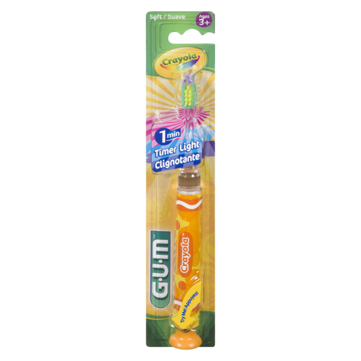 Picture of GUM CRAYOLA TOOTHBRUSH - TIMER LIGHT SOFT