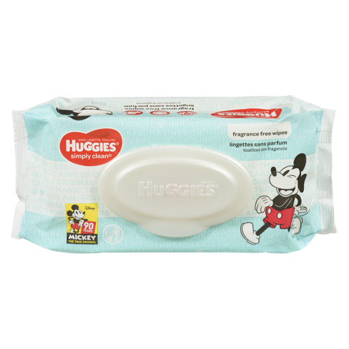 Picture of HUGGIES SIMPLY CLEAN WIPES - FRAGRANCE FREE 64S