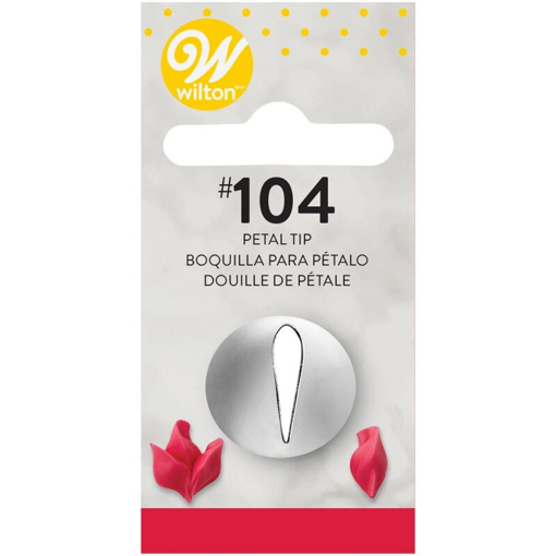 Picture of WILTON DECORATING TIP #104 PETAL
