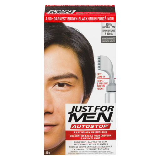 Picture of JUST FOR MEN AUTO STOP - REAL DARKEST BROWN/BLACK