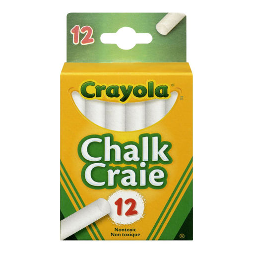 Picture of CRAYOLA CHALK - SWAN WHITE 12S