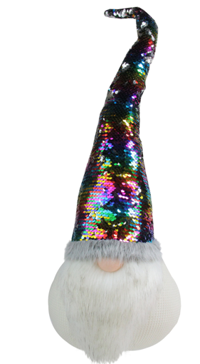 Picture of XMAS GLAMOUR GNOMES WITH REVERSIBLE SEQUINS HATS -GN19-04