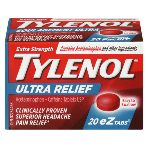 Picture of TYLENOL ULTRA RELIEF - TOUGH ON HEADACHES TABLET 20S