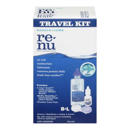 Picture of BAUSCH & LOMB RENU MULTI PURPOSE SOLUTION TRAVEL KIT 60ML