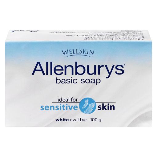 Picture of ALLENBURYS BASIC BAR SOAP - WHITE 100GR