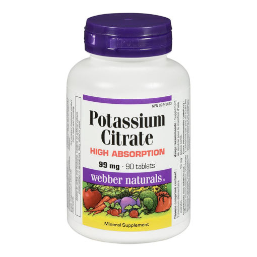 Picture of WEBBER NATURALS POTASSIUM CITRATE TABLET 99MG 90S