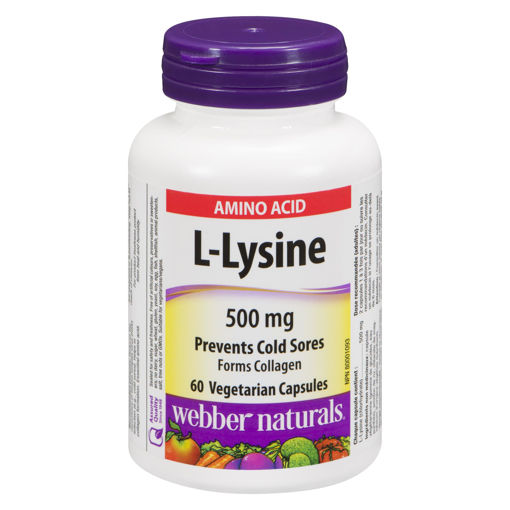 Picture of WEBBER NATURALS L-LYSINE CAPSULE 500MG 60S