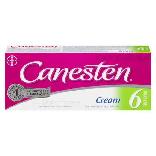 Picture of CANESTEN 6-DAY VAGINAL CREAM 1% 50GR