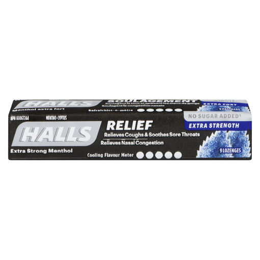 Picture of HALLS LOZENGE - EXTRA STRONG - SUGAR FREE 9S