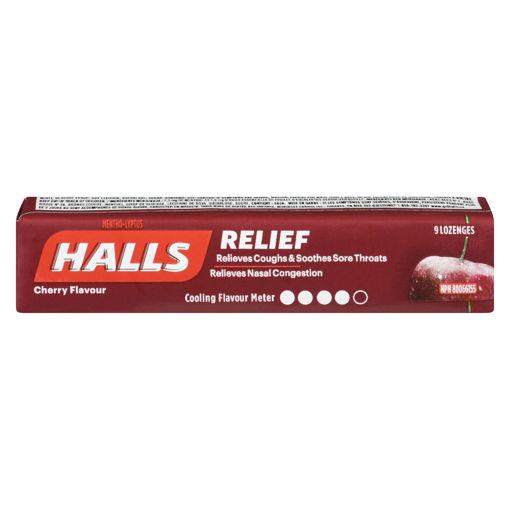 Picture of HALLS LOZENGE - CHERRY 9S
