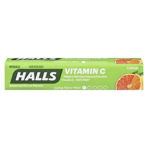 Picture of HALLS VITAMIN C LOZENGE - ASSORTED CITRUS 9S