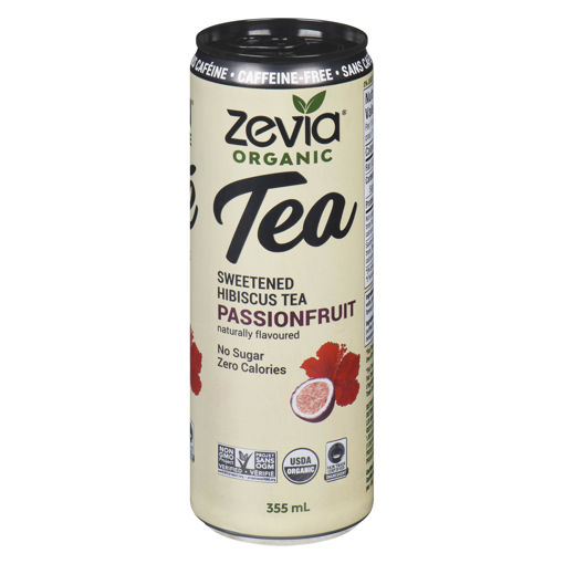 Picture of ZEVIA ORGANIC TEA PASSIONFRUIT 355ML