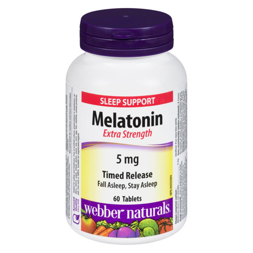 Picture of WEBBER NATURALS MELATONIN TIME RELEASE 5MG 60S