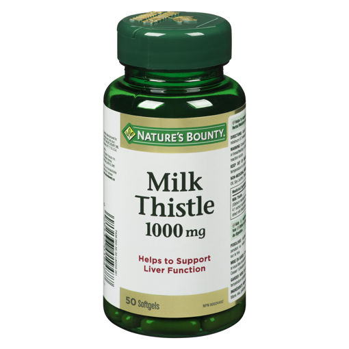 Picture of NATURES BOUNTY MILK THISTLE 1000MG SOFTGEL 50S