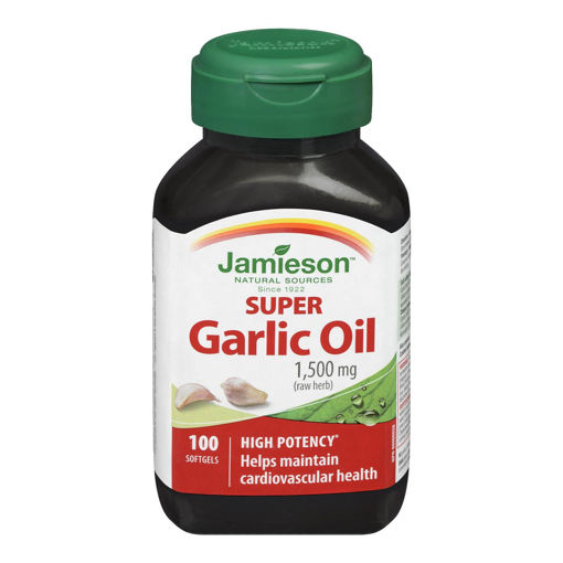Picture of JAMIESON GARLIC OIL SOFTGEL 1500MG CAPSULE 100S