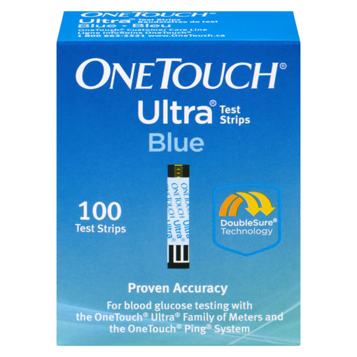 Picture of ONE TOUCH ULTRA BLUE TEST STRIPS 100S