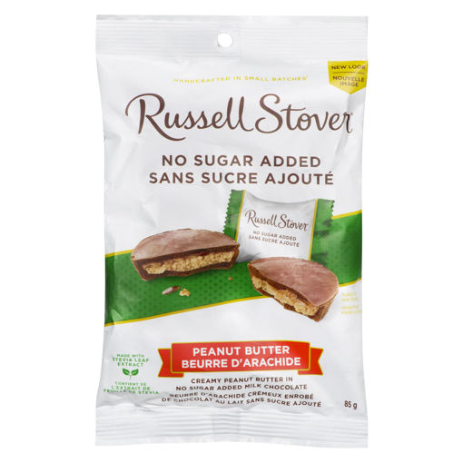 Picture of RUSSELL STOVER PEANUT BUTTER CUPS - NO SUGAR ADDED 85GR